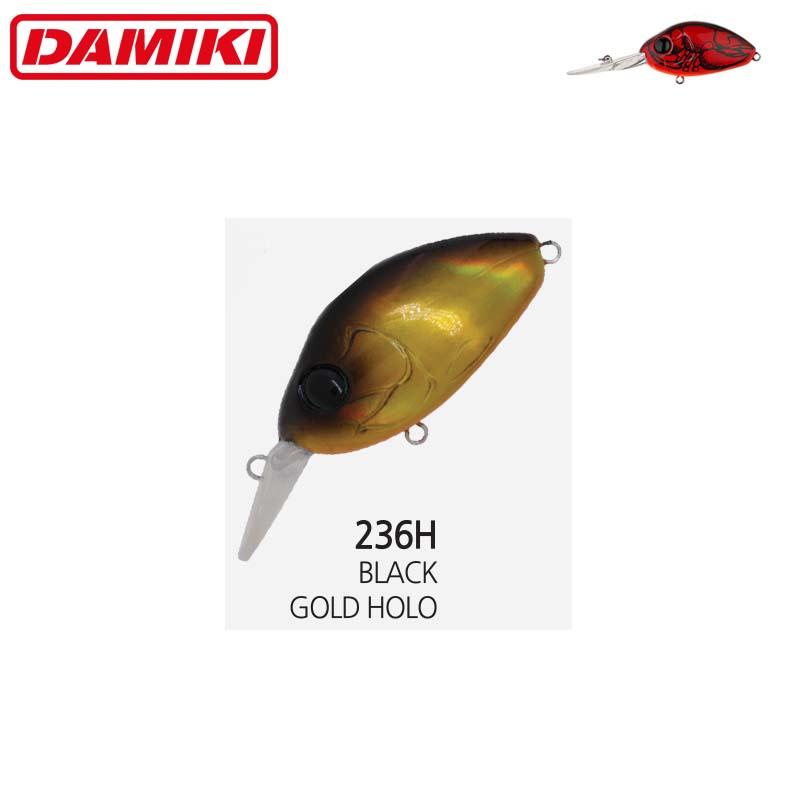Damiki DC-200 5.5CM/14Gr (Floating) - 236H (Black Gold Holo)