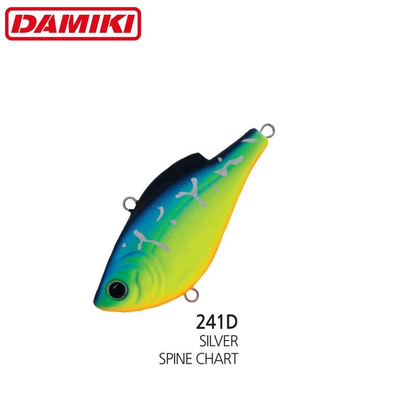 Damiki NAPJARU-60S 6CM/10.5Gr (Sinking) - 241D (Silver Spine Chart)