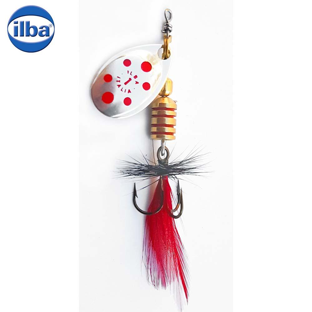 Ilba rotativa Tondo Mosca (Fly) - Silver/Red + Fly Red/Black - nr.0/2gr (105110N)