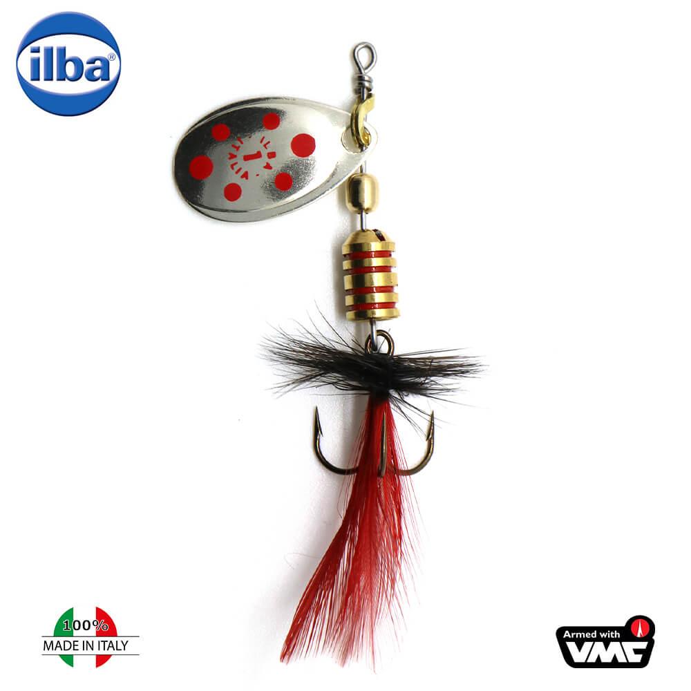 Ilba rotativa Tondo Mosca (Fly) - Silver/Red + Fly Red/Black - nr.1/3gr (105111N)