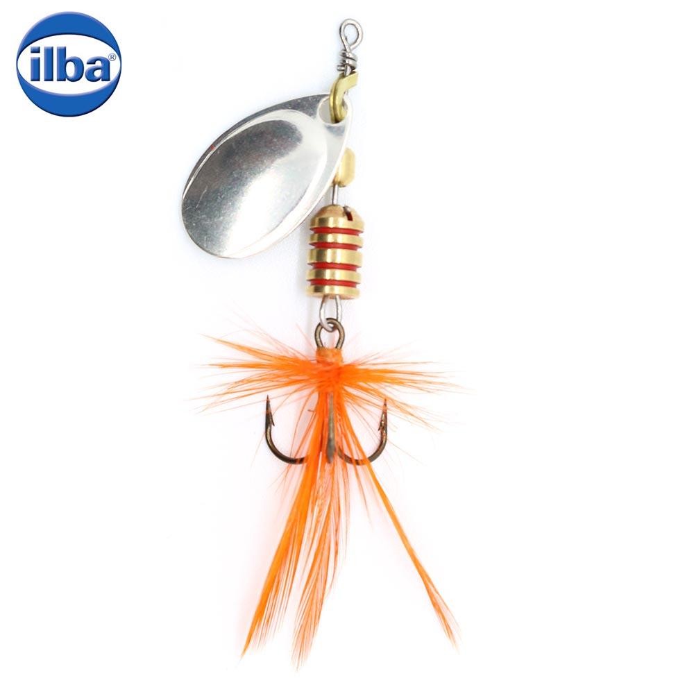 Ilba rotativa Tondo Mosca (Fly) - Silver + Fly Orange - nr.2/5gr (100102)