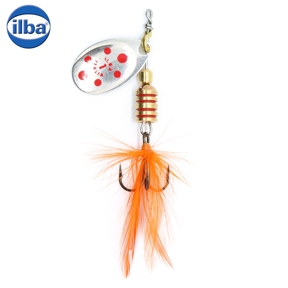 Ilba rotativa Tondo Mosca (Fly) - Silver/Red + Fly Orange - nr.1/3gr (105111)