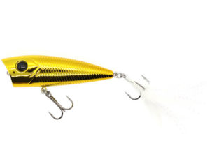 Damiki D-POP70 7CM/10Gr (Topwater) - 502C (Chrome Gold)
