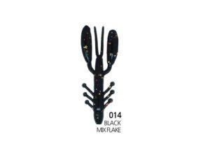 Damiki Air Craw 5.6CM (2'') - 014 (Black Mix Flake)