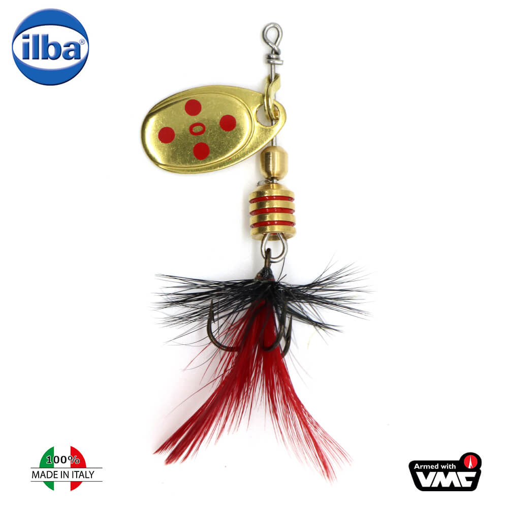 Ilba rotativa Tondo Mosca (Fly) - Gold/Red + Fly Red/Black - nr.0/2gr (105210N)