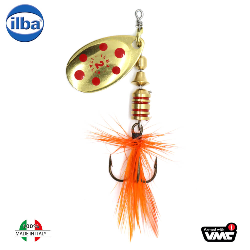 Ilba rotativa Tondo Mosca (Fly) - Gold/Red + Fly Orange - nr.2/5gr (105212)