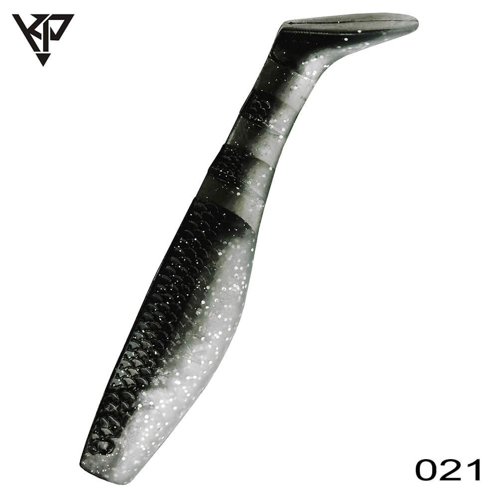 KP Baits Original Shad 5CM (2'') - 021 (Black & White Glitter)
