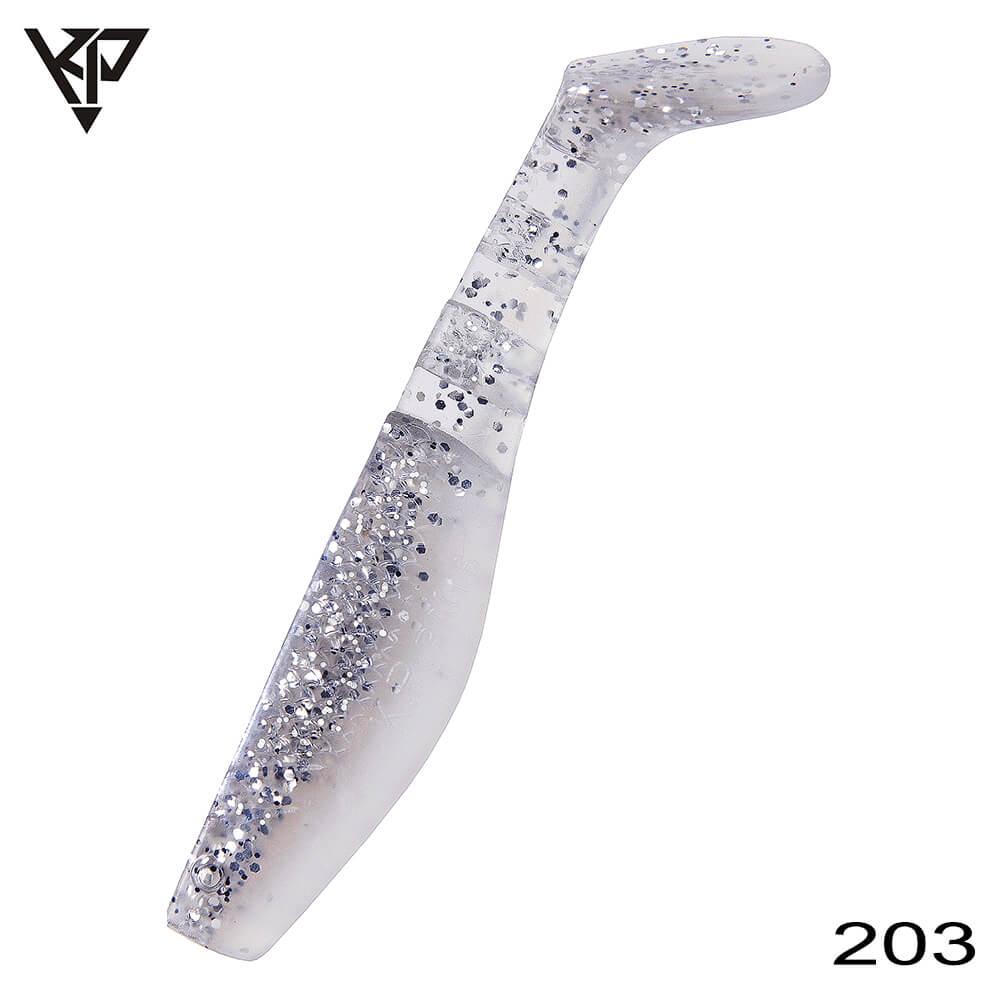 KP Baits Original Shad 5CM (2'') - 203 (Silver White Pearl)