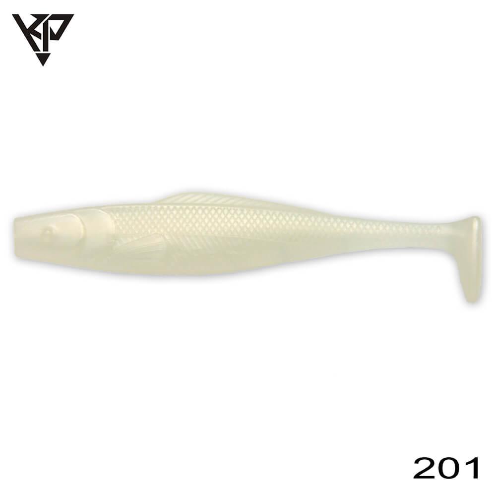 KP Baits Natural Shad 8.75CM (3.5'') - 201 (White Pearl)