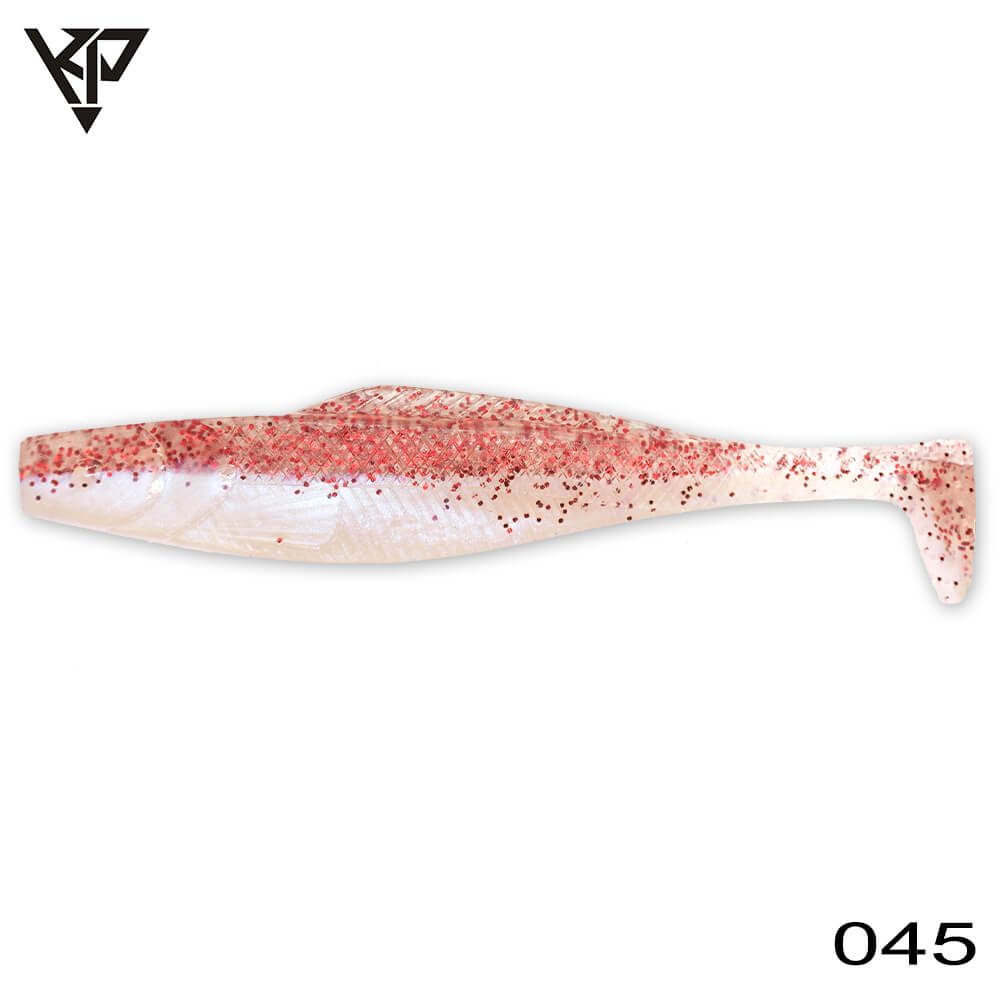 KP Baits Natural Shad 8.75CM (3.5'') - 045 (Red Glitter Blue Pearl)