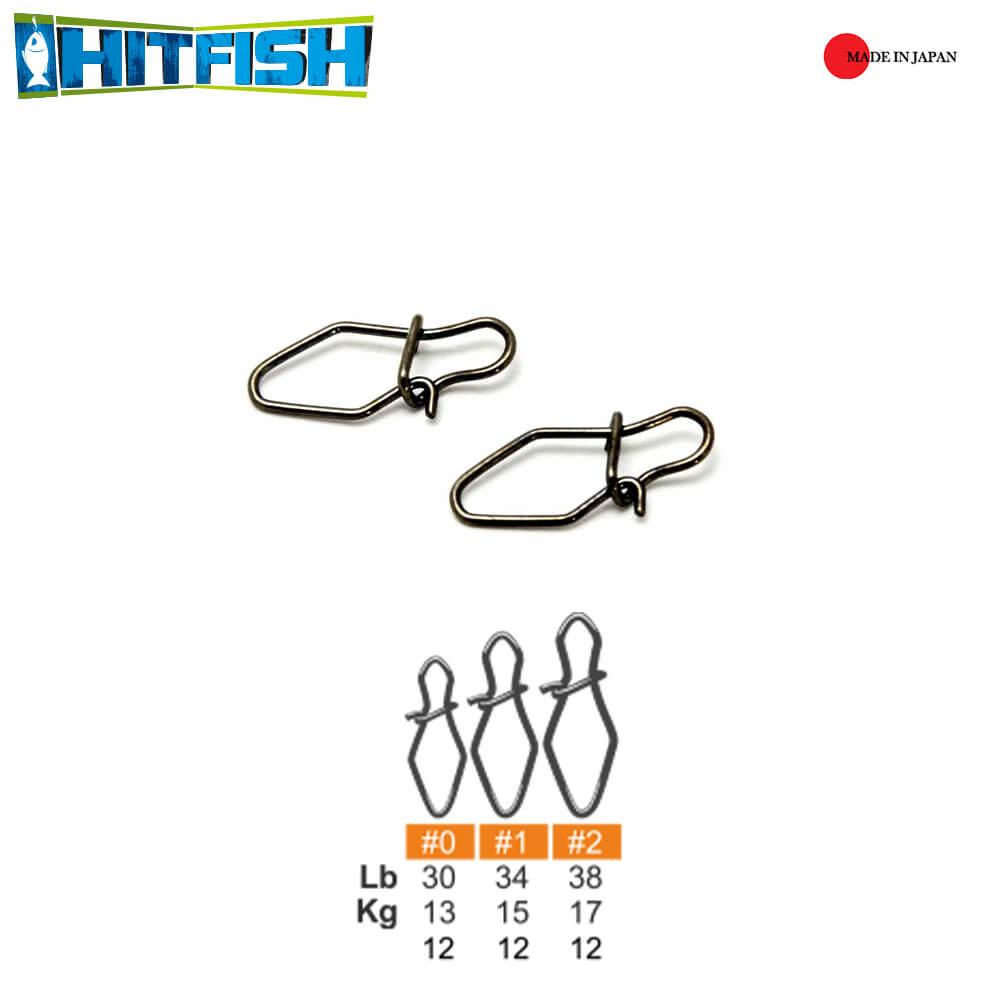 Hitfish Agrafa V-Snap (VS) #2 / 17kg - 12buc/plic