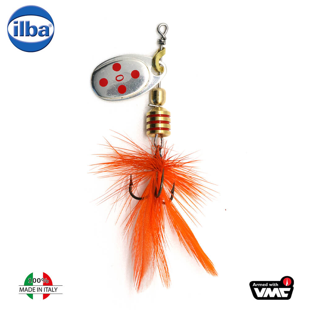 Ilba rotativa Tondo Mosca (Fly) - Silver/Red + Fly Orange - nr.0/2gr (105110)
