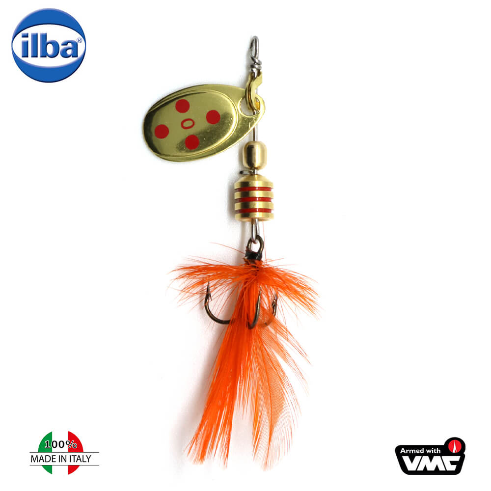 Ilba rotativa Tondo Mosca (Fly) - Gold/Red + Fly Orange - nr.0/2gr (105210)