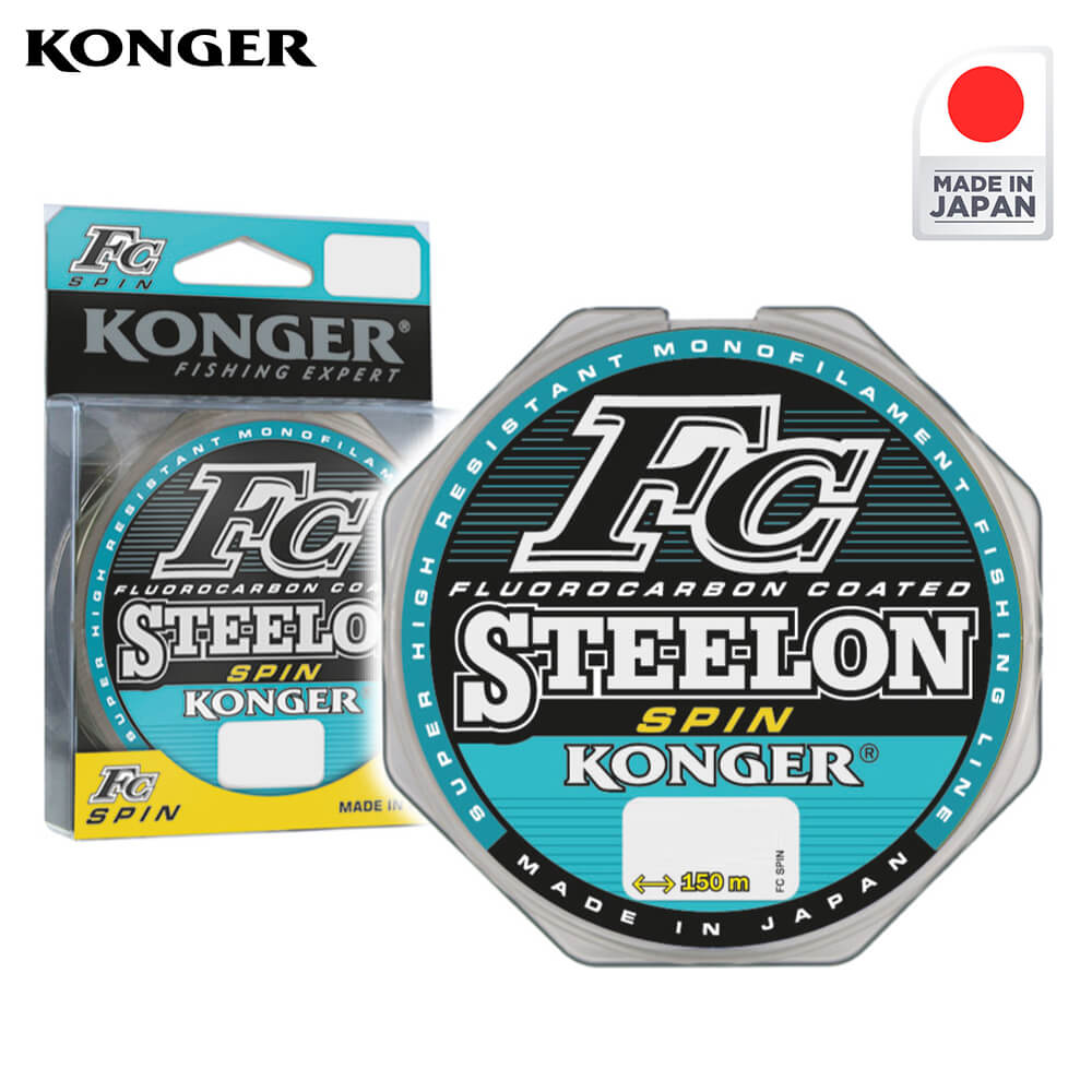 Konger Fir Monofilament Steelon FC SPIN 150m / 0.30mm - cod 233150030
