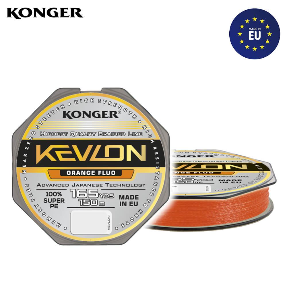 Konger Fir Textil Kevlon X4 Orange Fluo 150m / 0.250mm / 29.2kg - cod 250153025