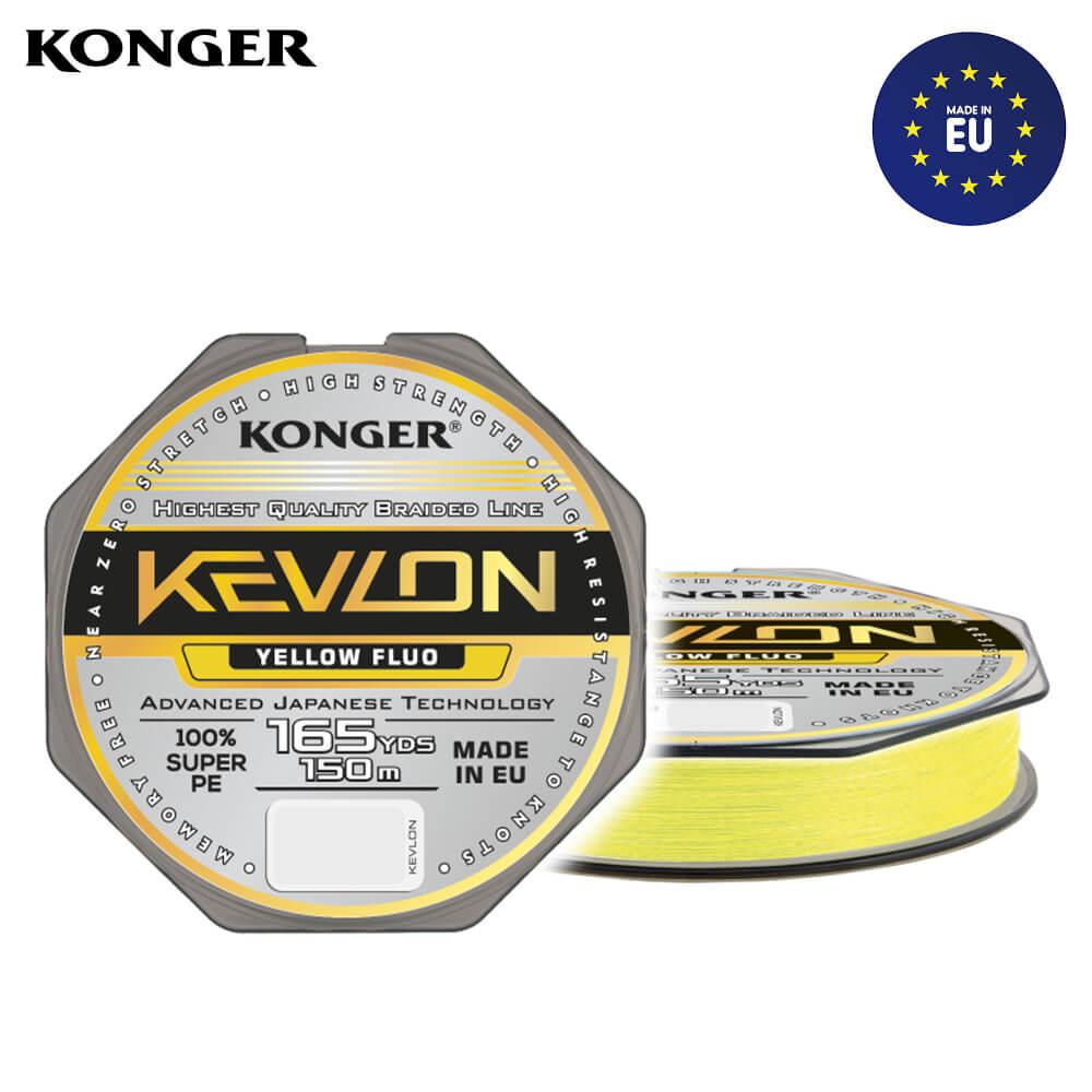 Konger Fir Textil Kevlon X4 Yellow Fluo 150m / 0.25mm / 29.2kg - cod 250154025