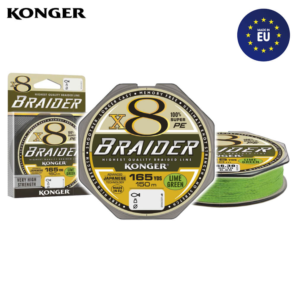 Konger Fir Textil Braider X8 Lime Green 150m / 0.25mm / 30.1kg - cod 250157025
