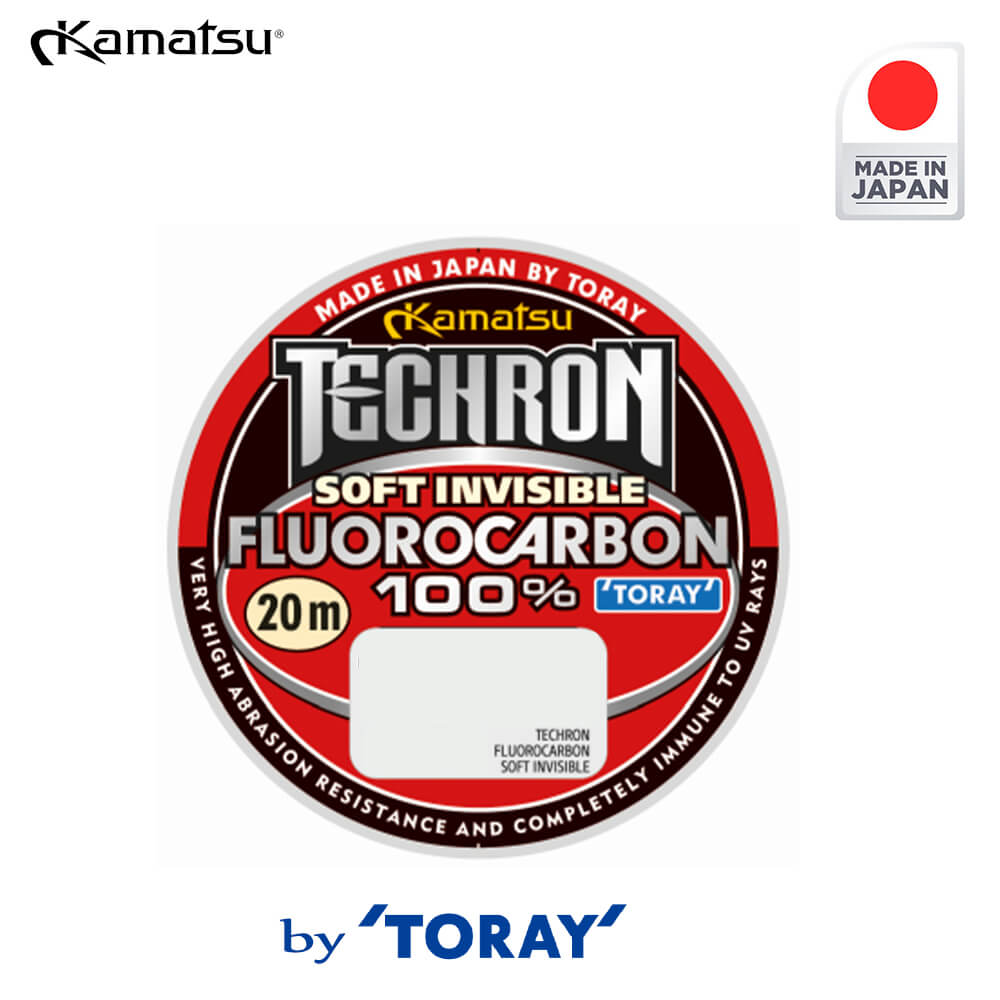 Kamatsu Fir Fluorocarbon 100% Techron Soft Invisible 20m / 0.377mm - cod 296010038