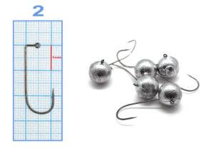 Meito Hooks MicroJig Bila #2 – 9gr (5buc/plic)