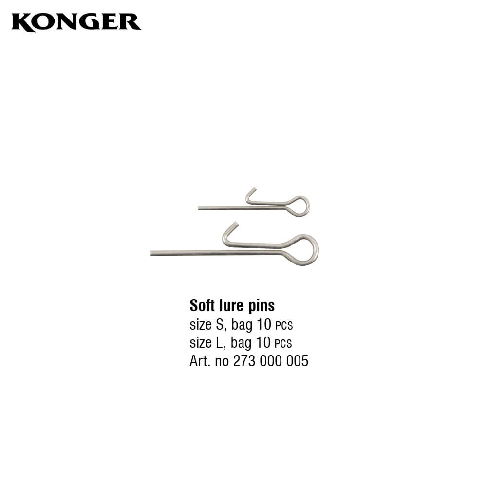 Konger Swimbait System Stinger Pin Softlure S+L (20buc/plic)