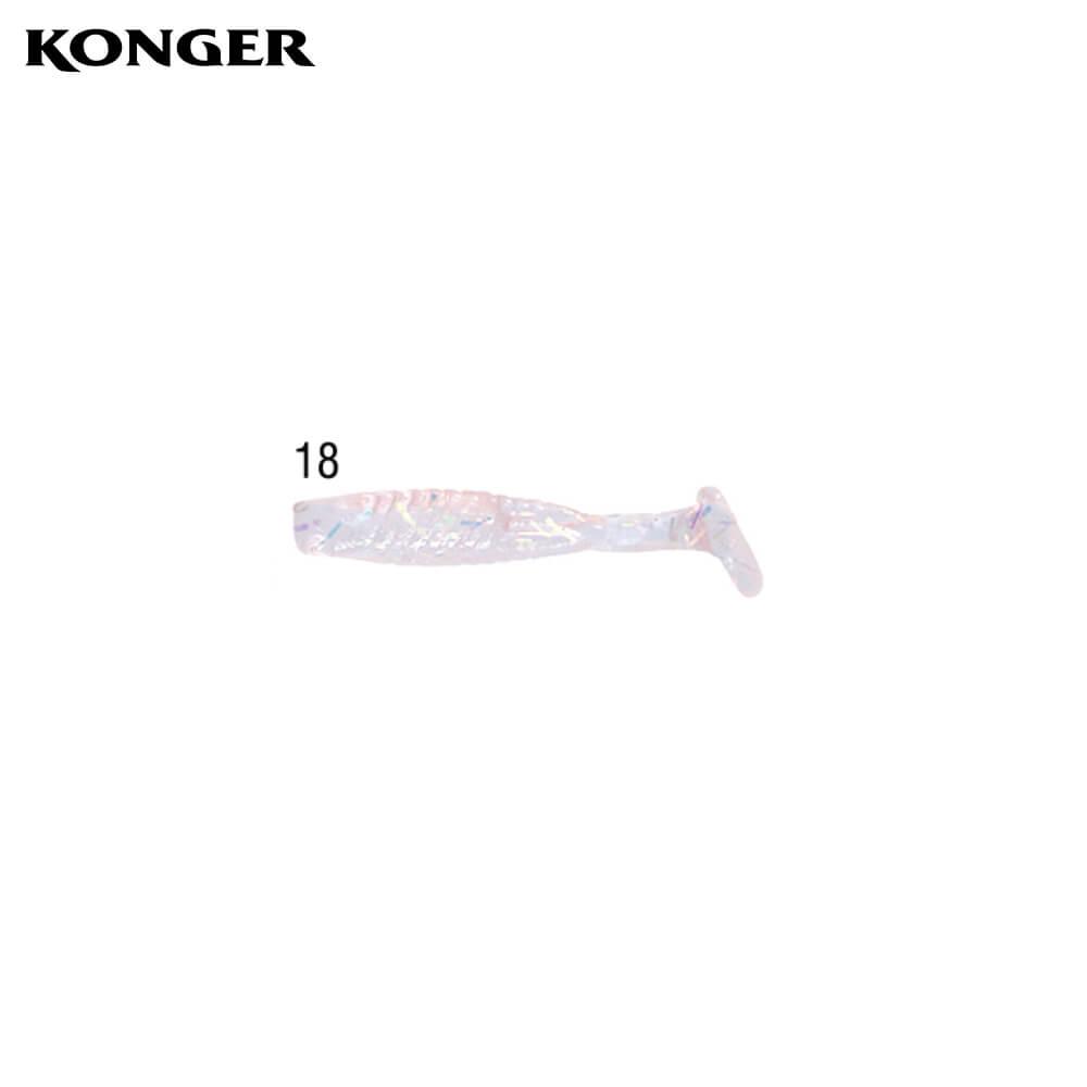 Konger Micro Fish 3cm, culoarea 18, 12buc/plic